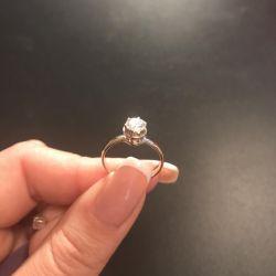 Кільце з діамантом 0,61 карат