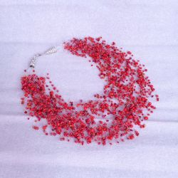 Red Garnet Bead Necklace