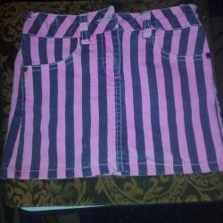 Джинсовая юбка.6-8 лет