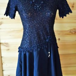 elbise 42-44 öne dantel ile üst elbise