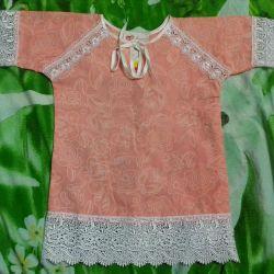 сорочка новая или для крещения рубашкар86-92