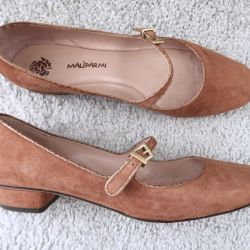Maliparmi Suede Dusty Pink Shoes