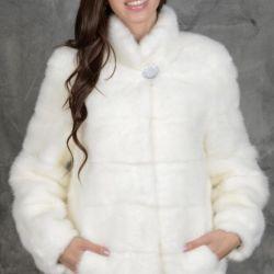 Vizon beyaz ceket