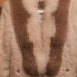 Natural fur fur coat
