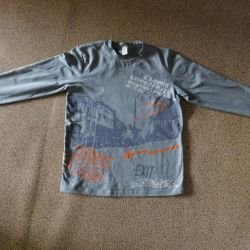 Children's gray blouse for a boy