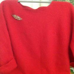 Knitted sweater, (angorka)