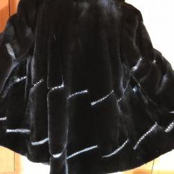 Mink coat with rhinestones beautiful