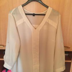 Beyaz bluz (değiştirilebilir)