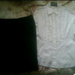 Новая юбка, майка и рубашка