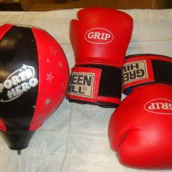 Перчатки боксера 10 oz/Груша боксера