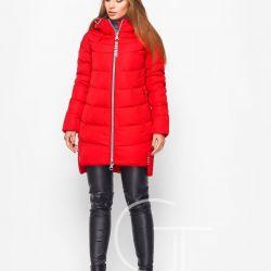 Kırmızı kışlık ceket r.48 (48-50)