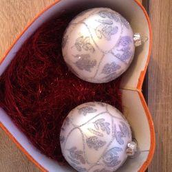Christmas balls 2 pcs.