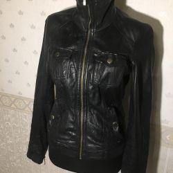 Куртка Bershka натуральная кожа