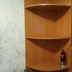 Corner with shelves