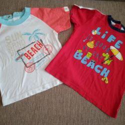 Μπλουζάκια από την Ιταλία. Μέγεθος-3 έτη.