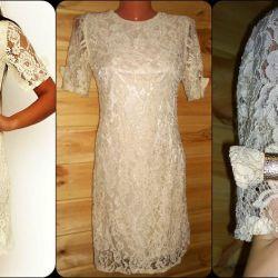 dantel elbise süt rengi