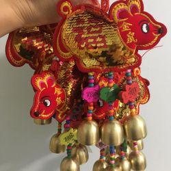 Souvenir mouse with bells pendant