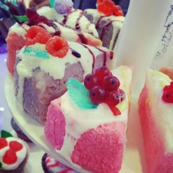 Handmade soap cake