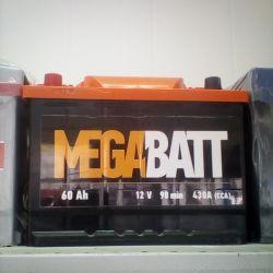 Аккумулятор MEGABATT 60AH 430A новый