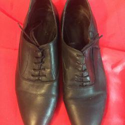 Туфли кожаные р.39-40