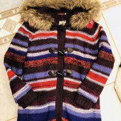 Пальто вязаное catimini