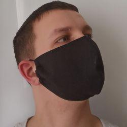 Yeniden kullanılabilir siyah tıbbi maske