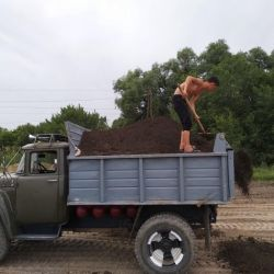 Chernozem, Peregny, Dung - damperli kamyonlara teslimat ile birlikte