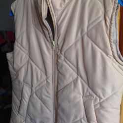 Vest women's quilted on sintepon
