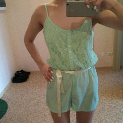 Minty clothes in a linen style