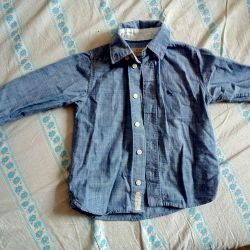 Shirt under a jeans for a boy 2 years