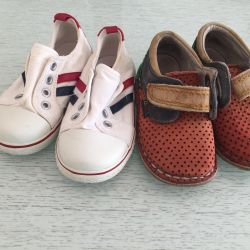 Moccasins bebs ve crazy8 sneakers 22 boyutu