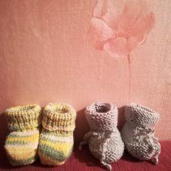 Μποτάκια - κάλτσες για νεογέννητα