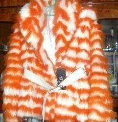Short fur coat from arctic fox.