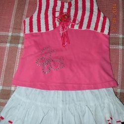 Costum frumos pentru o fată de 3,5 ani 4,5 ani