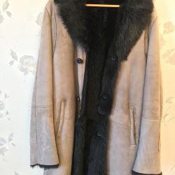 Sheepskin coat man's natural PRONTO (Turkey)