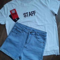 Новое,шорты550р,размер28-29,футболка390р,размер44-