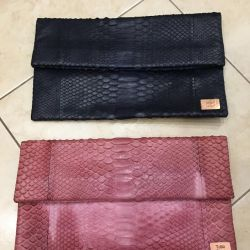 Clutches from genuine stingray leather