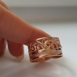 Кольцо качественная бижутерия 17,5 размер