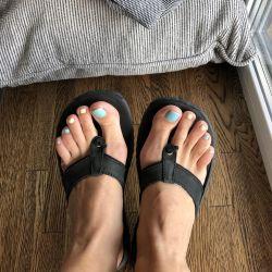 Columbia Leather Flip Flops
