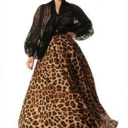 Chiffon skirt.