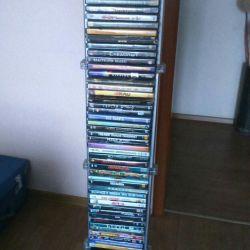 DVD диски и стойка для них