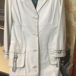 Leather raincoat