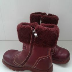 Leather Warm Boots for Girl Skorokhod