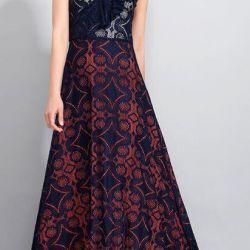 Новое кружевное платье макси. Р.M/L