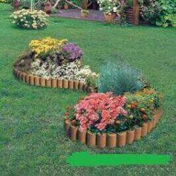Garden designer green, brown, terracotta