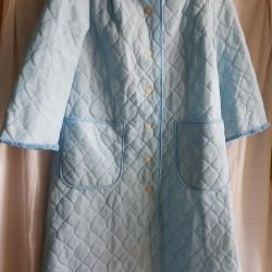 Dressing gown quilted. GDR. Retro. New. 48-50