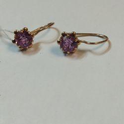 583 Amethyst Earrings
