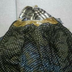 Jacket for a boy spring on a fur lining of the e