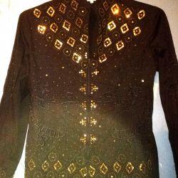 Fermuarlı gömlek bluz