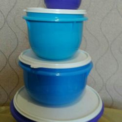 A set of baked tupperware